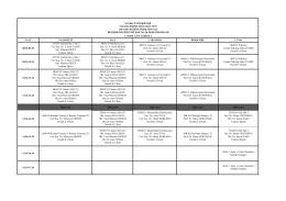 Hemşirelik Bölümü 1.Sınıf Güz Dönemi Haftalık Ders Programı