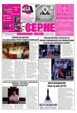 23.07.2014 Tarihli Cephe Gazetesi