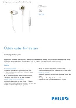Product Leaflet: Fidelio Beyaz Kulak İçi Kulaklık