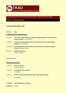 PORTAL HİPERTANSİYON - Türk Karaciğer Araştırmaları Derneği