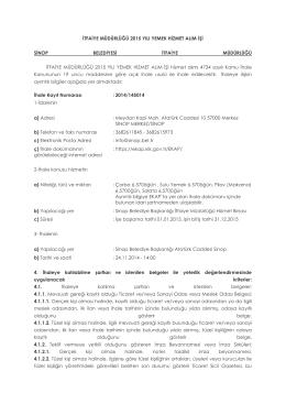 itfaiye müdürlüğü 2015 yılı yemek hizmet alım işi sinop belediyesi