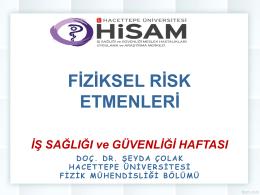 Fiziksel Risk Etkenleri - HİSAM