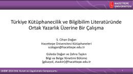 ppt - Hacettepe Üniversitesi Bilgi ve Belge Yönetimi Bölümü