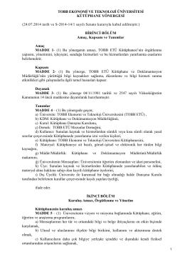 24.07.2014 tarih ve S-2014-14/1 sayılı Senato kararıyla