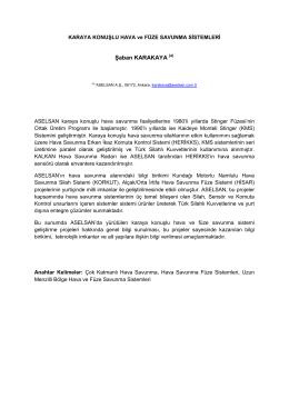 ASELSAN - Karaya Konuşlu Hava Savunma Sistemleri
