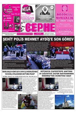 19.08.2014 Tarihli Cephe Gazetesi