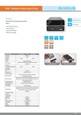 Karel RNJ-1410-04 NVR Kayıt Cihazı PDF Dosyası142.53 KB