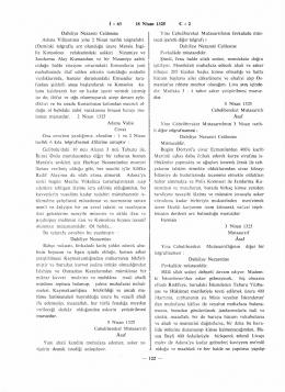 İ : 63 18 Nisan 1325 C : 2 Dahiliye Nezareti Celilesine Adana