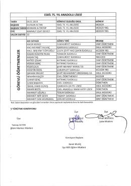 03-04/01/2015 açıklise sınavındagörevliöğretmen listesi
