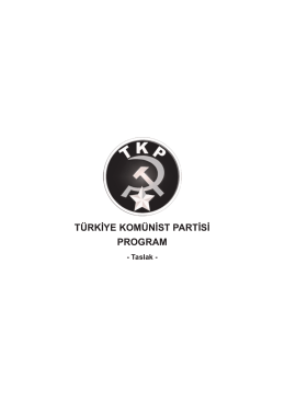 TÜRKİYE KOMÜNİST PARTİSİ PROGRAM