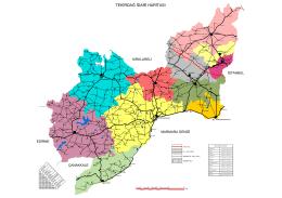 Tekirdağ İdari Sınırları Haritası (PDF)