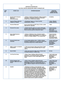Kamu Hizmet Standartları - Günyüzü İlçe Milli Eğitim Müdürlüğü