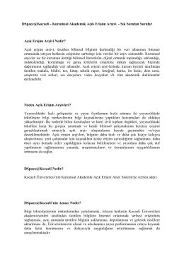 DSpace@Kocaeli - SSS - Kocaeli Üniversitesi