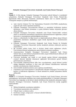 Yönerge - Osmangazi Üniversitesi