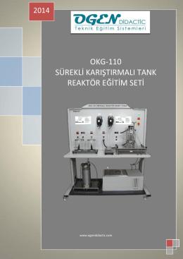 okg-110 sürekli karıştırmalı tank reaktör eğitim seti