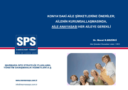 PDF İndirmek İçin Tıklayınız. - Marmara SPS Stratejik Planlama