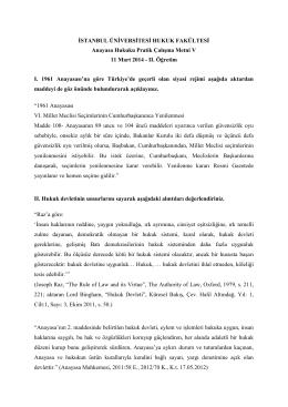 II. Öğretim I. 1961 Anaya - İstanbul Üniversitesi | Hukuk Fakültesi
