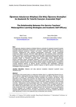 Abstract - ajesi - Anadolu Üniversitesi