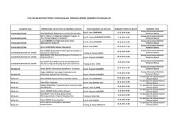 fen bilimleri enstitüsü yükseklisans öğrencilerinin seminer programları