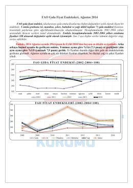 FAO Gıda Fiyat Endeksleri, Ağustos 2014