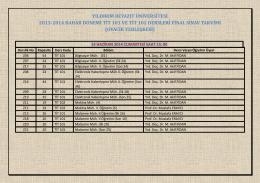 yıldırım beyazıt üniversitesi 2013-2014 bahar dönemi tit 101 ve tit