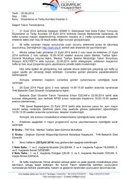 Düzenleme ve Tertip Komitesi Kararlar-3