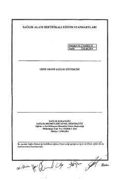 saglık alanı sertifikalı egitim standartları