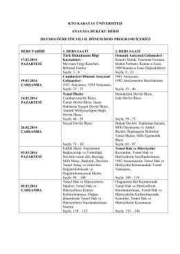 kto karatay üniversitesi anayasa hukuku dersi 2013/2014 öğretim yılı