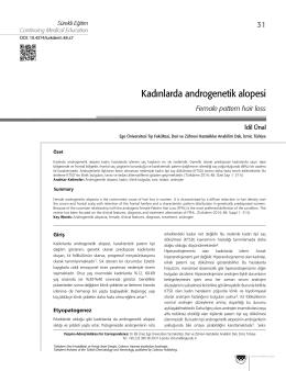 Kadınlarda androgenetik alopesi