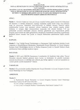 van valiliği ve shcek arasında işbirliği protokolü