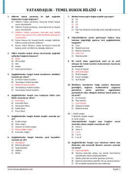 VATANDAŞLIK - TEMEL HUKUK BİLGİSİ - 4