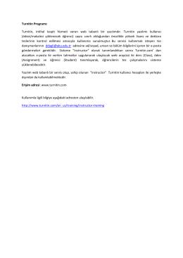 Turnitin Programı: Turnitin, intihal tespit hizmeti veren web tabanlı bir