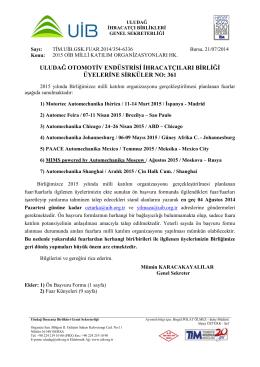 Turkçe Antetli Kağıt - Uludağ İhracatçı Birlikleri