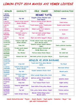 limon etüt 2014 mayıs ayı yemek listesi