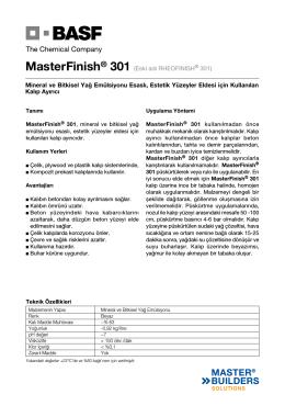 MasterFinish® 301 (Eski adı RHEOFINISH® 301) Mineral