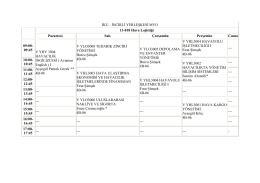 hava lojistiği 2014-2015 güz dönemi ders programları