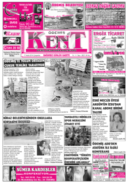 17-12-2014 Tarihli Kent Gazetesi