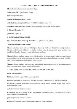 Zara Anadolu - Milli Eğitim Bakanlığı
