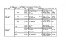 2014-2015 eğitim-öğretim yılı şubat dönemi sorumluluk sınavı