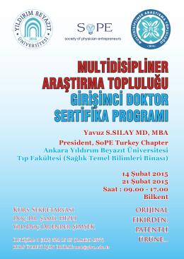 multidisipliner araştırma topluluğu girişimci doktor sertifika programı