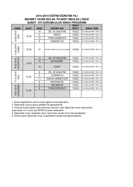 2014-2015 eğitim öğretim yılı mehmet vehbi bolak ticaret meslek