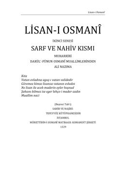 Lisan-ı Osmani