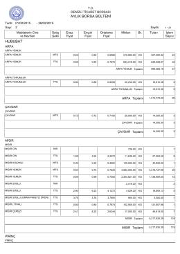 şubat 2015 aylık bülten - Denizli Ticaret Borsası