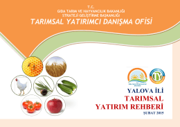 yalova - TC Gıda Tarım ve Hayvancılık Bakanlığı