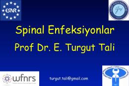 Spinal Enfeksiyonlar