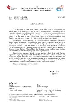 Ücretsiz Seyahat Kartı - Ankara Aile ve Sosyal Politikalar İl Müdürlüğü