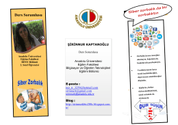 Ders Sorumlusu - Anadolu Üniversitesi