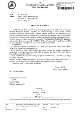 81494288/720 Konu : Türk Konseyi- Yetkilendirilmiş Y