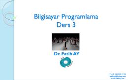 Ders 3 (18.03.2015) - Yrd.Doç.Dr.Fatih AY