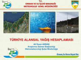 Türkiye Alansal Yağış Hesaplaması
